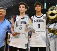 Víctor Pérez Barrios y  Tiago Drocezesky junto al gobernador