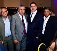 Miguel Solís con Tapia y directivos del Consejo Federal de AFA