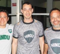 CORONEL-ROVNER-BROLLO, cuerpo técnico de Hindú Club