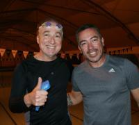 Carlos Salom listo para entrenar natación