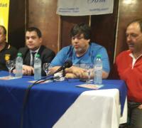 Walter Obregón, Gonzalo Saravia, Raúl Mosqueda y Ariel Canizini de Cune