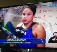 Daniela Giménez luego de la competencia.