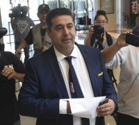 Daniel Hourcade, ex conductor de Los Pumas, fue uno de los atractivos de la conferencia de prensa.