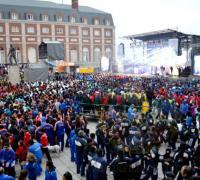 Multitud en Mar del Plata para el inicio de los Juegos Evita