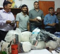 Entregaron elementos a las escuelitas de fútbol que funcionan en los Centros Comunitarios Municipales (CCM).