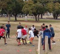 Los remeros cumpliendo el último entrenamiento en  Rosario.