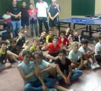 Los chicos de la escuela de iniciación deportiva