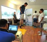 Los jugadores de Central Norte en el departamente de Medicina del Deporte del IDCh