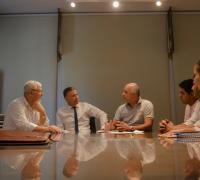 Autoridades de Lotería y de la Municipalidad de Los Frentones