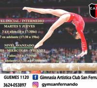 Gimnasia artística en San Fernando
