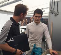 Girogio Carrara con su ingeniero