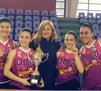 Hercules de Charata campeón del 3 x 3 en San Luis. Estuvo integrado por Lucia Hamaniuk, Daniela Hamaniuk, Rocío Lezcano y Magalí Rolón.