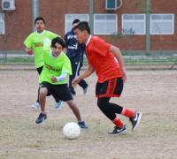 Etapa local de los uegos Evita en fútbol en el Tiro Federal