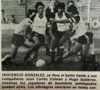 Inocencio González en un clásico