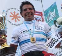 Daniel Juárez el día que ganó el Argentino de Ruta