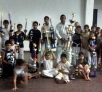 "Integrantes de la Escuela de Karate ""Shurin Ryu Shikenkai"""
