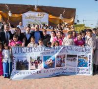 El presidente de Lotería y el vicegobernador Capitanich en Laguna Blanca