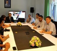 El directorio de Lotería Chaqueña y una distendida reunión con la prensa