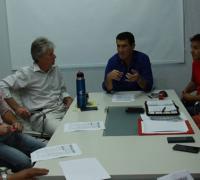 Autoridades del Instituo con el diputado Sager