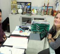 Maria Eugenio Merino con Juan Carlos Arguello.