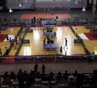 Imponente imágen del estadio de Regatas en el grand Prix de Tenis de Mesa