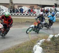 El gobernador Peppo, autoridades de Lotería y el IDC en el lanzamiento del Superbike