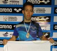 Jose Muchutti, tercero en   50 metros mariposa y 50 metros libre