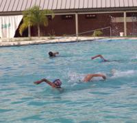 Algunoss de los nadadores de Regatas que participarán del Argentino