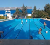 Puesta punto del natatorio de Comercio de Santa Sylvina