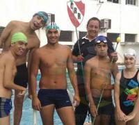 Algunos de los chicos que viajan a Paraná