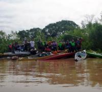 Participantes de la travesía entre Las Palmas y el club Yapú Guazú