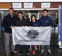 Pingui González con Deldó, Jara y Puebla