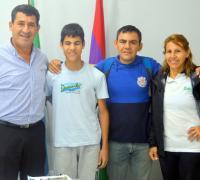 Martín González Nuñez con el presidente del IDCh Juan Carlos Arguello