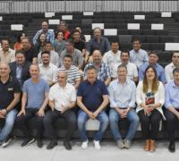 """Autoridades en la inauguración del Micro Estadio """"19 de Febrero"""""""