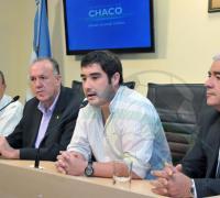 Ayala, Bittel, Kohli y Torres, en el lanzamiento oficial del Sudamericano