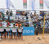 Equipo de fútbol playa