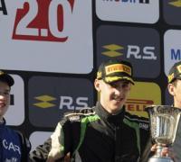 Nicolás Moscardini segundo, el ganador Santiago Ross y Esteban Fernández el tercero