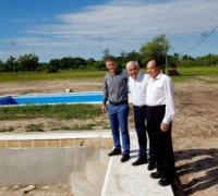 El presidente de Lotería Chaqueña Oscar Brugnoli encabezó esta recorrida por el predio municipal en compañía del vocal Carlos Torres y el secretario de gobierno de la Municipalidad de La Leonesa, Antonio Ferrau.