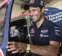 Alegria primero y enojo despues de Nasser Al Attiyah  (Toyota)
