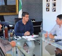 Capitanich, Read y Karlen, en la reunión donde se analizó el futuro dle Nacional B