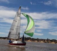 Embarcación ganadora de la Regata Corrientes - Empedrado 2019