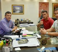Rizo Patrón con el Gobernador Peppo y el presidente de Lotería Oscar Brugnoli