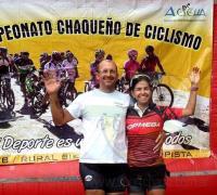 Rolando Ahumada y Gisela Martínez, ganadores de varones y mujeres en la general de rally bike