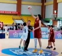 Zhang Ziyu en el salto inicial