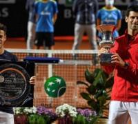 Diego Schwartzman perdió hoy con el número uno del mundo, el serbio Novak Djokovic, por 7-5 y 6-3 en la final del Masters 1000 de tenis de Roma