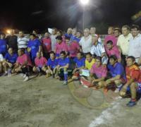 Participantes del fútbol solidario en Hermoso Campo