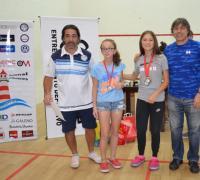 En el torneo nacional Candela Bernard logró la medalla de oro en M15 y M17 femeninos principiantes, Renata Rolfi la medalla de oro en M11 y Milagros Cima medalla de plata en M15 principiantes