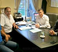 Zapllito Sánchez, Alejandro Urtubey y el presidente y vocal de Lotería chaqueña Oscar Brugnoli y Edy Núñez