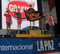 Inacio Zurlo en el podio de La Paz