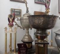 Algunos de los trofeos de la URNE